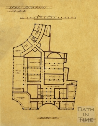 Baths development - [Grand Pump Room Hotel site, Stall Street & Bath Street] site no.2 - basement plan - AJ Taylor June 1913