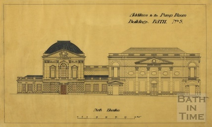Addition to the Pump Room buildings - north elevation to Abbey Churchyard - Scheme no.5 - A J Taylor [1920s?]