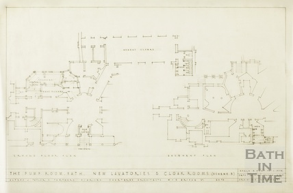 Pump Room - new lavatories & cloakrooms - basement & ground floor plan - Scheme 3 - 1502/3 - AJ Taylor & Partners March 1946