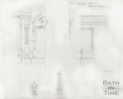 Proposed new baths - details of stonework - no.16 - Charles E Davies ?[early 1900s]
