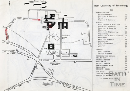 Bath University of Technology - plan of Claverton Down campus [1960s?]