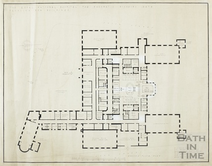 RNHRD Mineral Water Hospital proposed new buildings - ground floor - 9278/202 - AJ Taylor 1938?