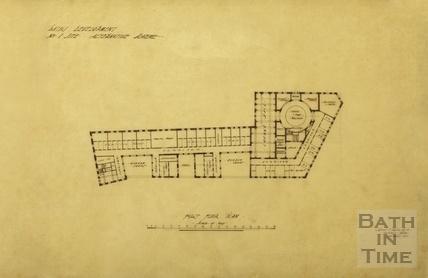 Bath Development, no.1 site, alternative scheme - first floor plan - York Street and Kingston Buildings - A J Taylor 1913
