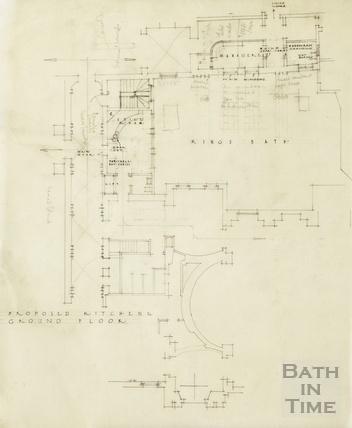 Proposed kitchen etc., ground floor [King's Bath] [1947]