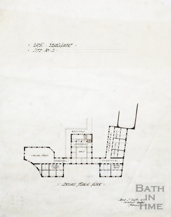 Baths development [? part of York Street, Terrace Walks, Orange Grove development] - site no.2 - 2nd floor plan - AJ Taylor 1914
