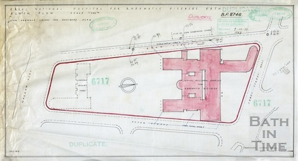Proposed new building RNHRD [Mineral Water Hospital] - street location plan - BP8746 - AJ Taylor July 1939