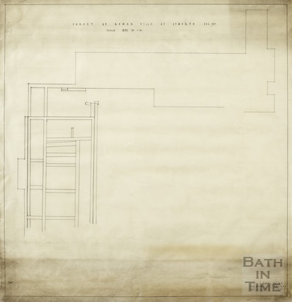 Survey of Roman Villa at Atworth [Wilts] - plan - AJ Taylor & AC Fare August 1938