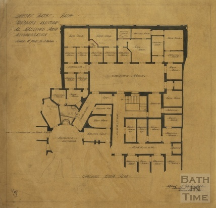 Queen's Baths - proposed additional dressing room accommodation - ground floor plan - AJ Taylor November 1913