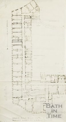 Grand Pump Room Hotel, proposed alterations, working drawings - 2nd floor 1920s?