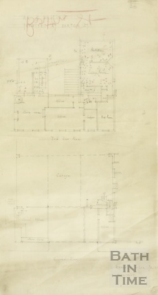 Mr W Whiting premises at Barton Street garage - first and ground floor plans - AJ Taylor 1939