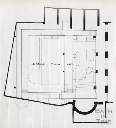 Additional Roman Baths east - plan 1920s