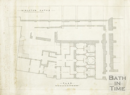 Kingston Baths - plan - lavatories and cloakrooms - Charles E Davis post-1870s