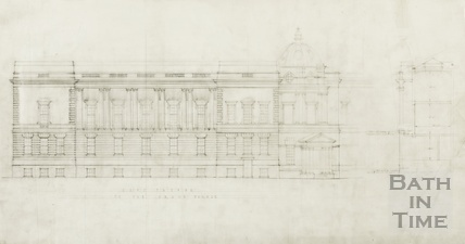 East facade to Grand Parade New Market Row extension to Victoria Art Gallery - AJ Taylor 1930s