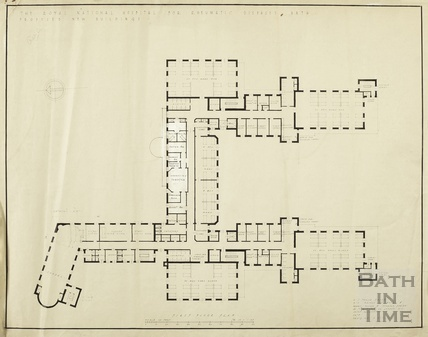 RNHRD Mineral Water Hospital proposed new buildings - 1st floor plan - A9276/203 - AJ Taylor 1938