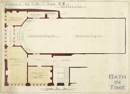 Additions to New Baths Royal Swimming Baths - Scheme 2 - ground floor plan 1930s?