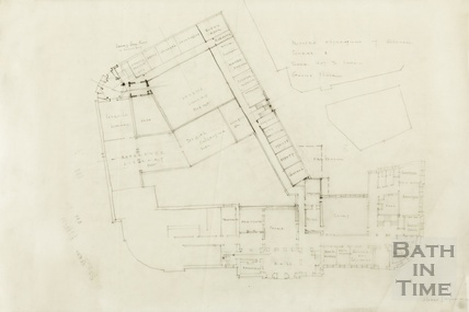Proposed alterations at Guildhall - Scheme B, ground floor plan - AJ Taylor 1930s
