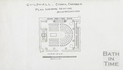 Guildhall Council Chamber - plan showing seating accommodation ?