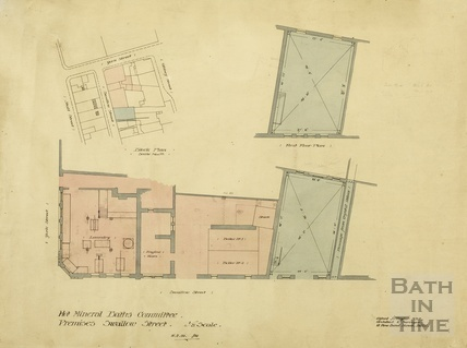 Hot Mineral Baths Cttee - premises, Swallow Street - plans, block plan - AJ Taylor 1909