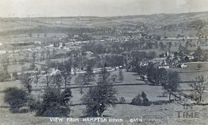 View from Bathampton Down of Bathampton and Batheaston, posted 1908?