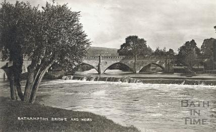 Bathampton / Batheaston Toll Bridge and weirs c.1910