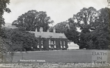 Bathampton Manor and conservatory c.1910