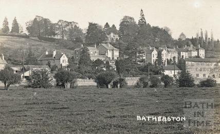 View of London Road East and Bannerdown, Batheaston, posted 1922