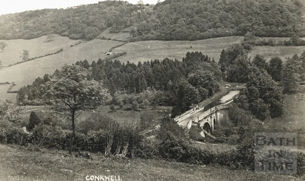 Dundas Aqueduct, with Conkwell in the distant background c.1910