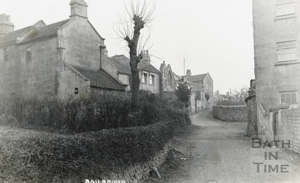 Houses in Bailbrook with the school in the background c.1910