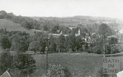 View of Smallcombe Cemetery from 13 Macaulay Buildings, Widcombe Hill c.1910