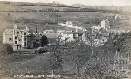 The rear of Middlesex House and the Northend Inn, Batheaston c.1908