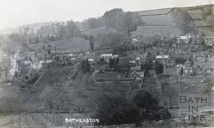 View of Northend, Batheaston, posted 1910