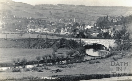 View of Batheaston and Northend from Bathford c.1910