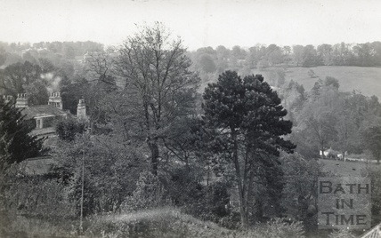 Distant view of Prior Park from 13 Macaulay Buildings, Widcombe Hill c.1910