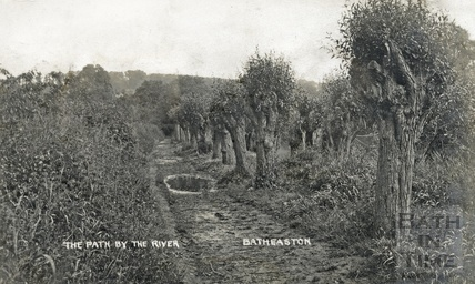 Path by the River Avon, Batheaston, posted 1908?