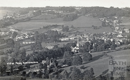 View of Box from Kingsdown c.1920