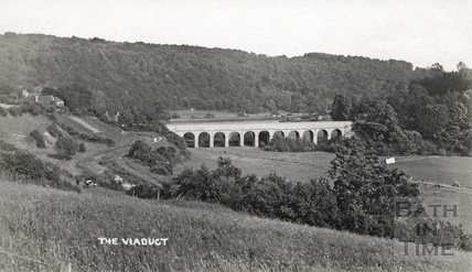 The Viaduct, Limpley Stoke viewed from Monkton Combe c.1906