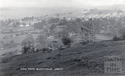 View from Bloomfield Crescent of an emerging Bear Flat c.1910