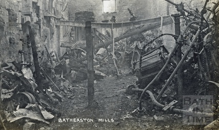 The fire destroyed Batheaston Mills, 1909