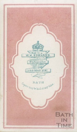 Advertisement for W.H. Edwards photographer, 3 Old Bond Street, Bath