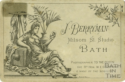 Advertisement for J Berryman, photographers, Milsom Street Bath 1892