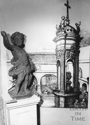 The cherub from the niche above Mallory's, New Bond Street 19 April 1988