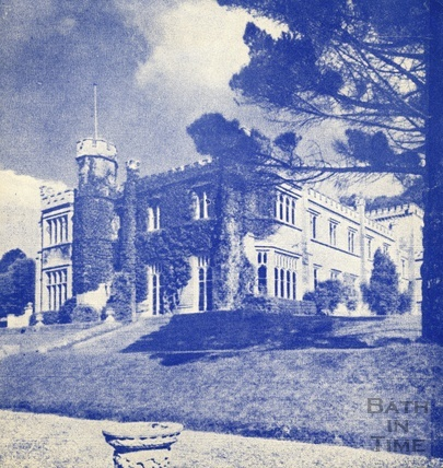 Warleigh Manor, as depicted on the Christmas card of Rodbourne College c.1960