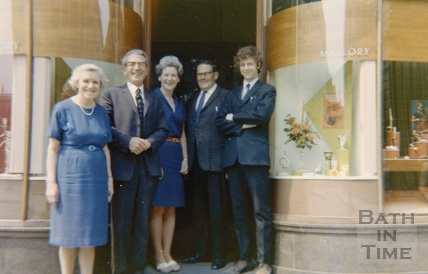 Staff from Mallory's pose outside the shop in Bridge Street c.1965