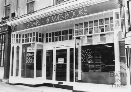 Bowes and Bowes bookshop, 31 Milson Street shortly after closing down June 1987
