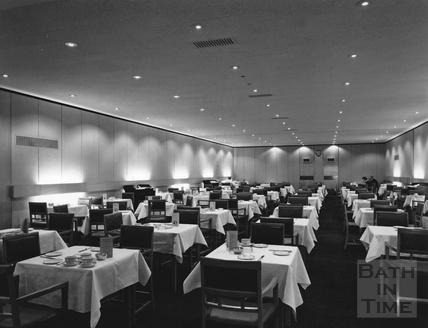 The dining room inside Fortts restaurant, Milsom Street c.1980