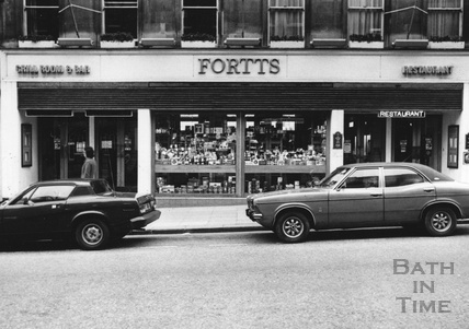 Fortts restaurant, Milsom Street, Bath 15 Feb 1982