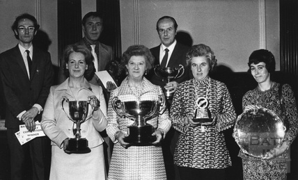 Award winners in 1977 including staff from Mallory's