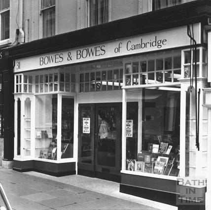 Bowes and Bowes of Cambridge shop, 31 Milson Street c.1970