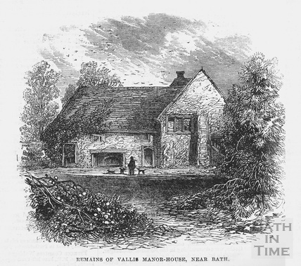 Remains of Vallis Manor House, Vallis Vale(?), Frome 1864