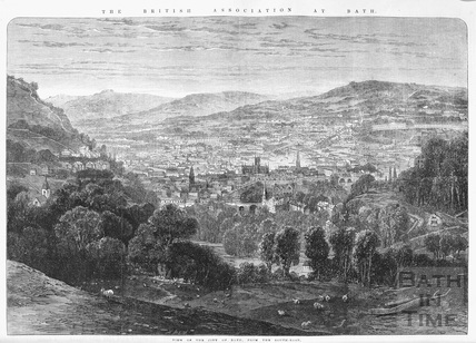 View of the City of Bath from the South East 1864